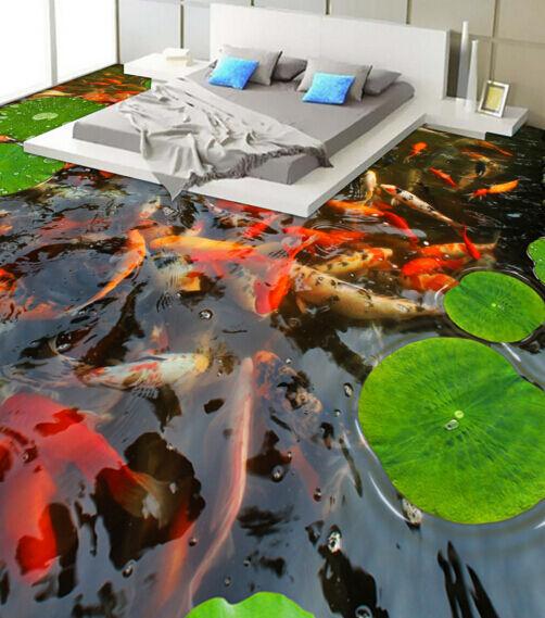 3D Riesige Goldfisch 15676 Fototapeten Wandbild Fototapete BildTapete Familie DE