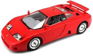 Bur12023 - Voiture Sportive Bugatti Eb 110 Couleur Rouge 1/18