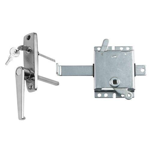 Garage Door L-Handle Lock with Inside Slide Lock Latch Mechanism Set Right Han