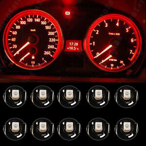 10x-Red-T4-T4-2-NEO-WEDGE-LED-LIGHT-GLOBES-SMD-LED-DASH-CLUSTER-2015