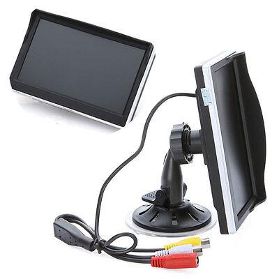 "5"" Digital TFT LCD Screen Rear View Color Monitor Car Reverse Camera DVD VCR New"