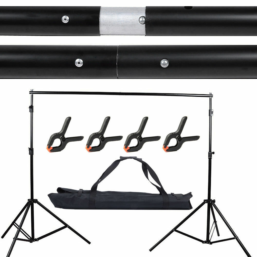 10Ft Adjustable Background Support Stand Photo Backdrop Crossbar Kit Photography 8