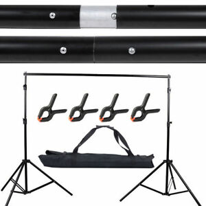 10Ft Adjustable Background Support Stand Photo Backdrop Crossbar Kit Photography 757764196363