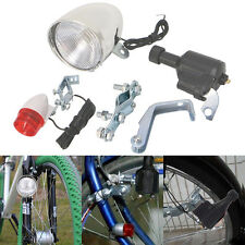 Motorized Bike Bicycle Friction Dynamo Generator Head Tail Light Acessories New