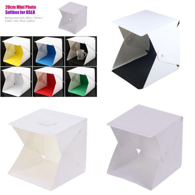 Portable Mini Folding Lightbox LED Photography Studio Backdrop for DSLR Camera