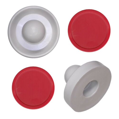 2 Commercial Table Hockey Pusher Paddles + 2 Red Large Air Pucks
