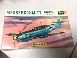 VINTAGE-1963-1-72-SCALE-MESSERSCHMITT-ME109-MODEL-KIT-BY-REVELL-IN-BOX-H612-49