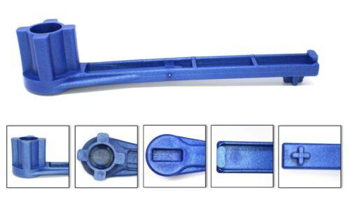 5 PACK Blue Bung Drum Wrench 55-30-15 Gallon Barrel Nut Cap Plug Gas Shut Off