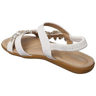 Para mujeres Damas Sandalias Planas Diamante Honda Nuevo Verano Flip Flop Zapatos Puntera Abierta