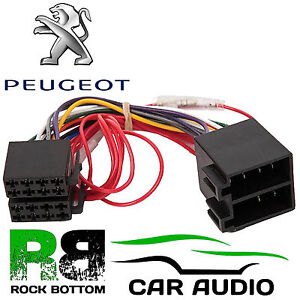 peugeot 406 2001 onwards car stereo radio iso harness wiring cable rh ebay co uk peugeot bipper abs wiring diagram peugeot partner wiring diagram download