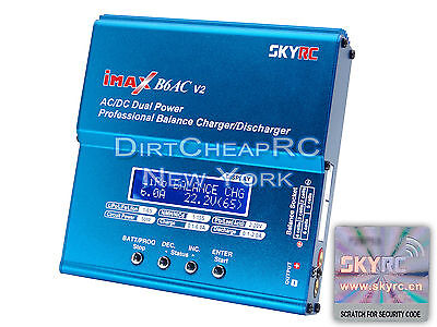 GENUINE AUTHENTIC SKYRC iMAX B6AC V2 6Amp AC/DC LiPo Charger + 10x20cm LiPo Bag