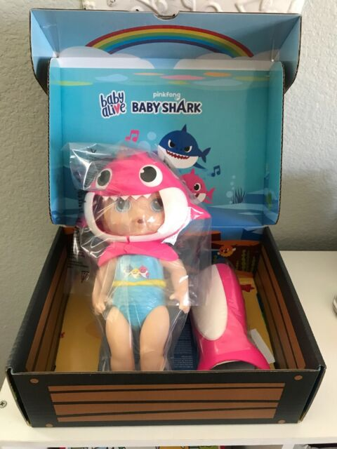 Pink Baby Shark Baby Alive Tail /& Hood w// Blond Hair