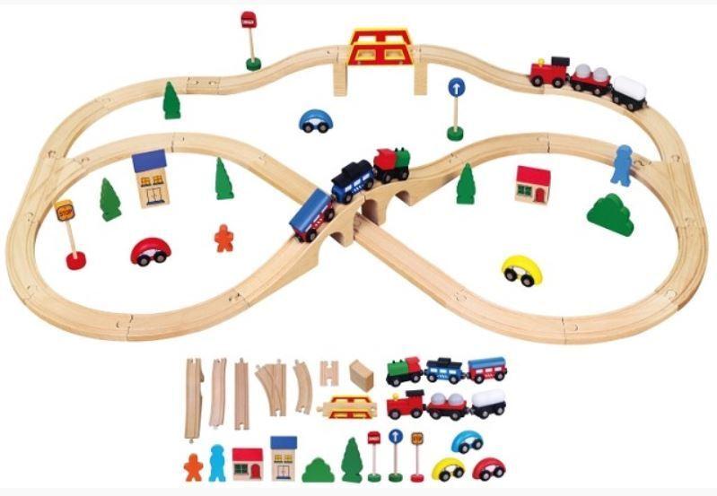 New Classic Toys 56304 Holzeisenbahn 49-teilig 49-teilig 49-teilig cc176b