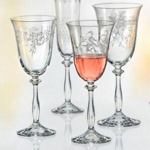 Bohemia Weißweingläser Weinglas Royal Ge. einheitliches Ornament 250ml 6er Set