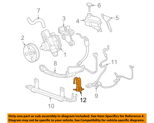 Power Steering Pressure Line Hose Assembly 3403612 fits 05-11 Cadillac STS