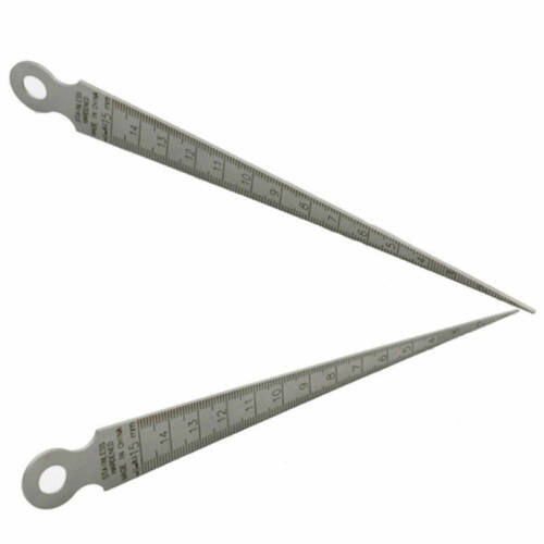 1-15mm Stainless Steel Hole Gap Inspection Taper Gauge Ruler Metric Measure Tool