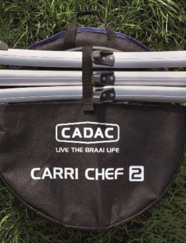 Carri Chef-2 Grill2/Braai/BBQ-Combo Camping Kugel Grill Gas Kocher 50 mbar Camping & Outdoor