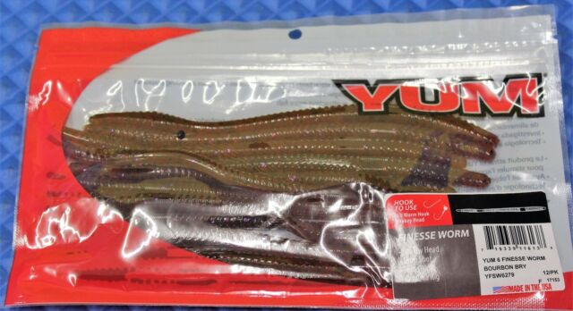 """Yum 6 Finesse Worm 6-1//2/"""" 12 Pack YFSW6 CHOOSE YOUR COLOR!"""