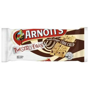 Arnott's Twisted Faves Choc Chip Scotch Finger 232g