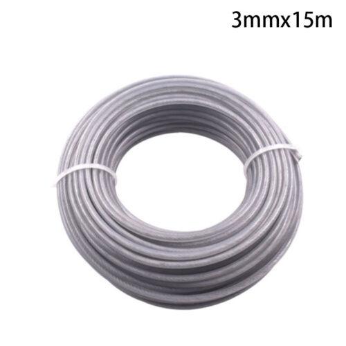 15M Trimmer Draht Snipper Seil Stahl Für Motorsense Freischneider-Teile