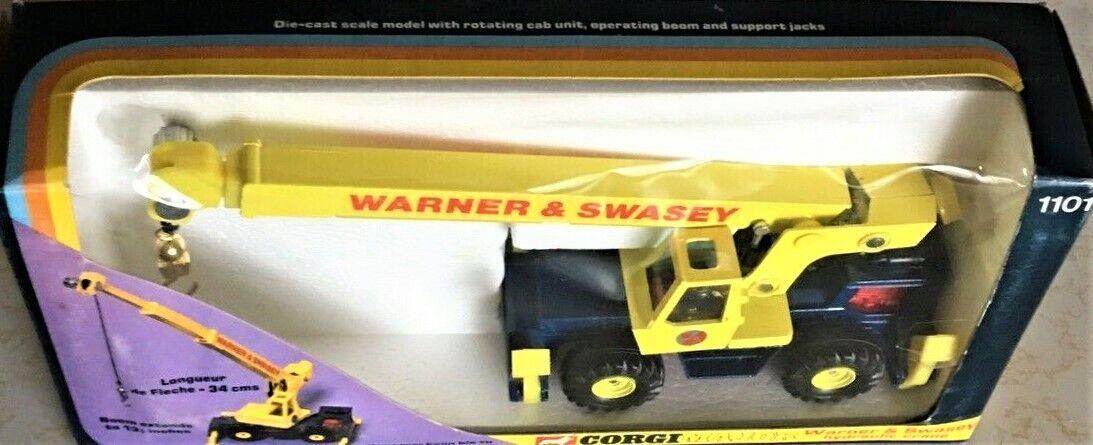 CORGI 1101 Warner  & Swasey hydraulique grue mobile avec télescopique Boom 1 50 Comme neuf IN BOX  bonne qualité