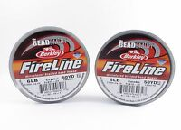 50 Yards Fireline Beading Thread 2-4-6-8-10 Lb Crystal Or Smoke