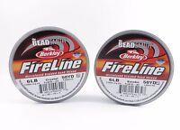50 Yards Fireline Beading Thread 2-4-6-8-10 Lb Crystal Or Smoke