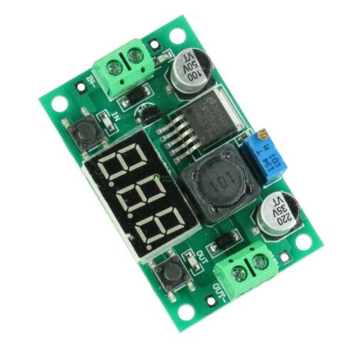 LM2596 Step-Down Regler Einstellbar Spannungsregler rmit LED Voltmeter New