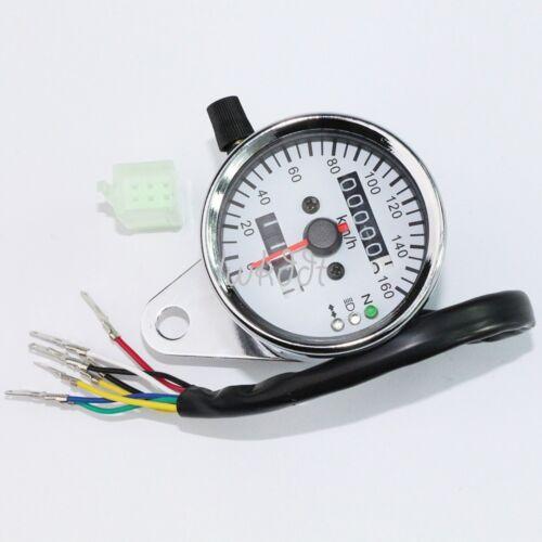 LED Dual Odometer Speedometer Gauge Yamaha Kawasaki Honda Suzuki Bike Cafe Racer