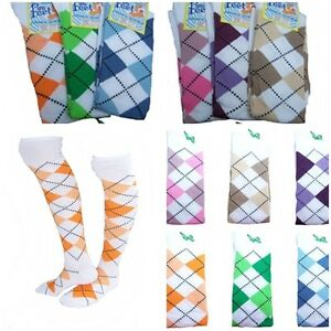 1-3-Argyle-a-carreaux-STRASS-EXTENSIBLE-chaussettes-hautes-PUB-GOLF-deguisement