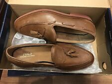 Brand New In Box Ralph Lauren Tankersley Shoes Brogues Loafers Brown Size 8