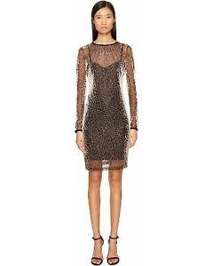 Just-Cavalli-Leopard-lace-dress-gold-variant-dress-womens-UK-size-8-REF62