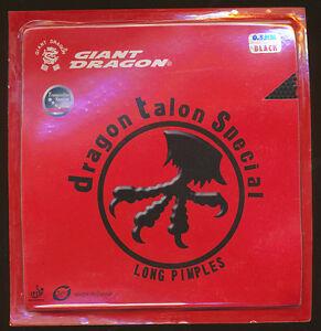 GIANT DRAGON TALON SPECIAL LONG PIMPLE PIPS TABLE TENNIS RUBBER - 0.5 mm BLACK