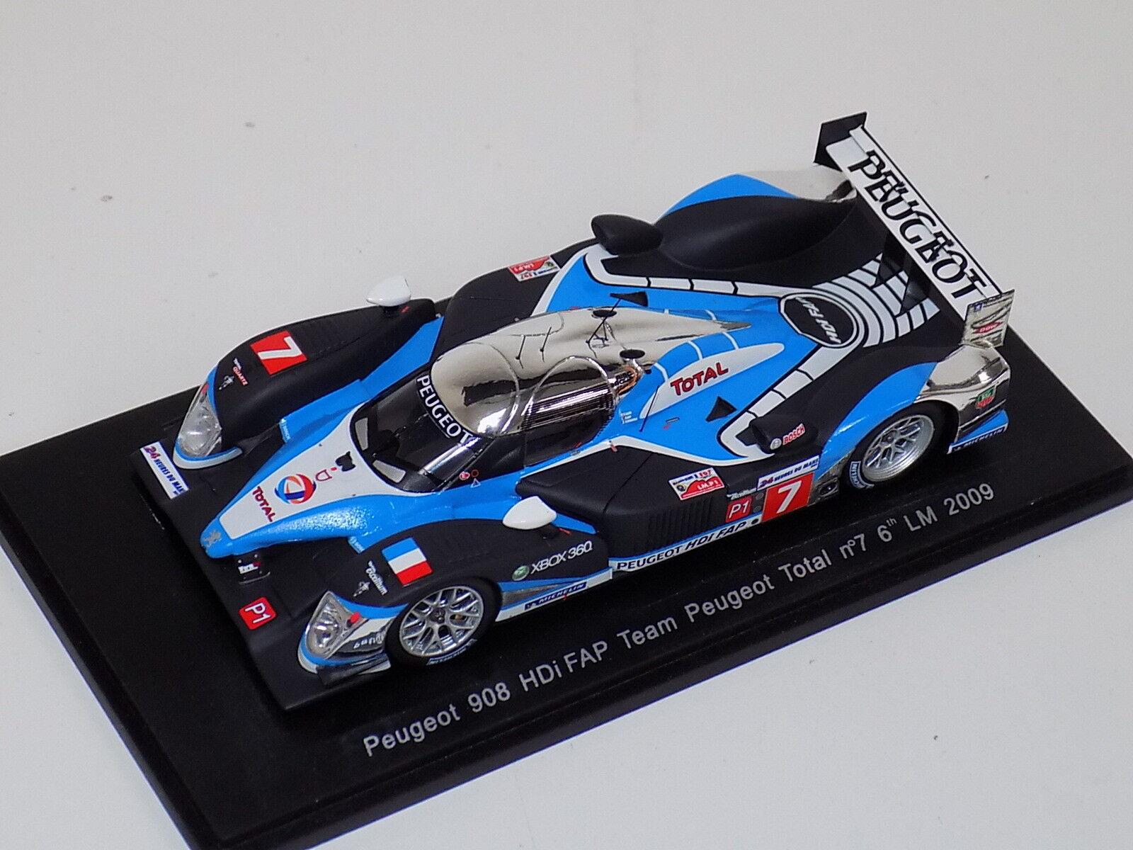 1/43 Spark Peugeot 908 HDi FAP coche 7 6th en 2018 24 H de Le Mans S1288