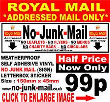 No Junk Mail Sticker, No Charity Bags, No Adverts,Menus,Canvassers Pedlars ❶RMO