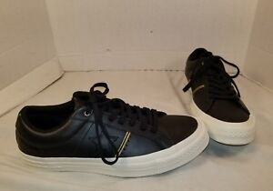 13d76b89b474 NEW CONVERSE ONE STAR BLACK GOLD LEATHER LO TOP SNEAKERS MEN S 8 ...