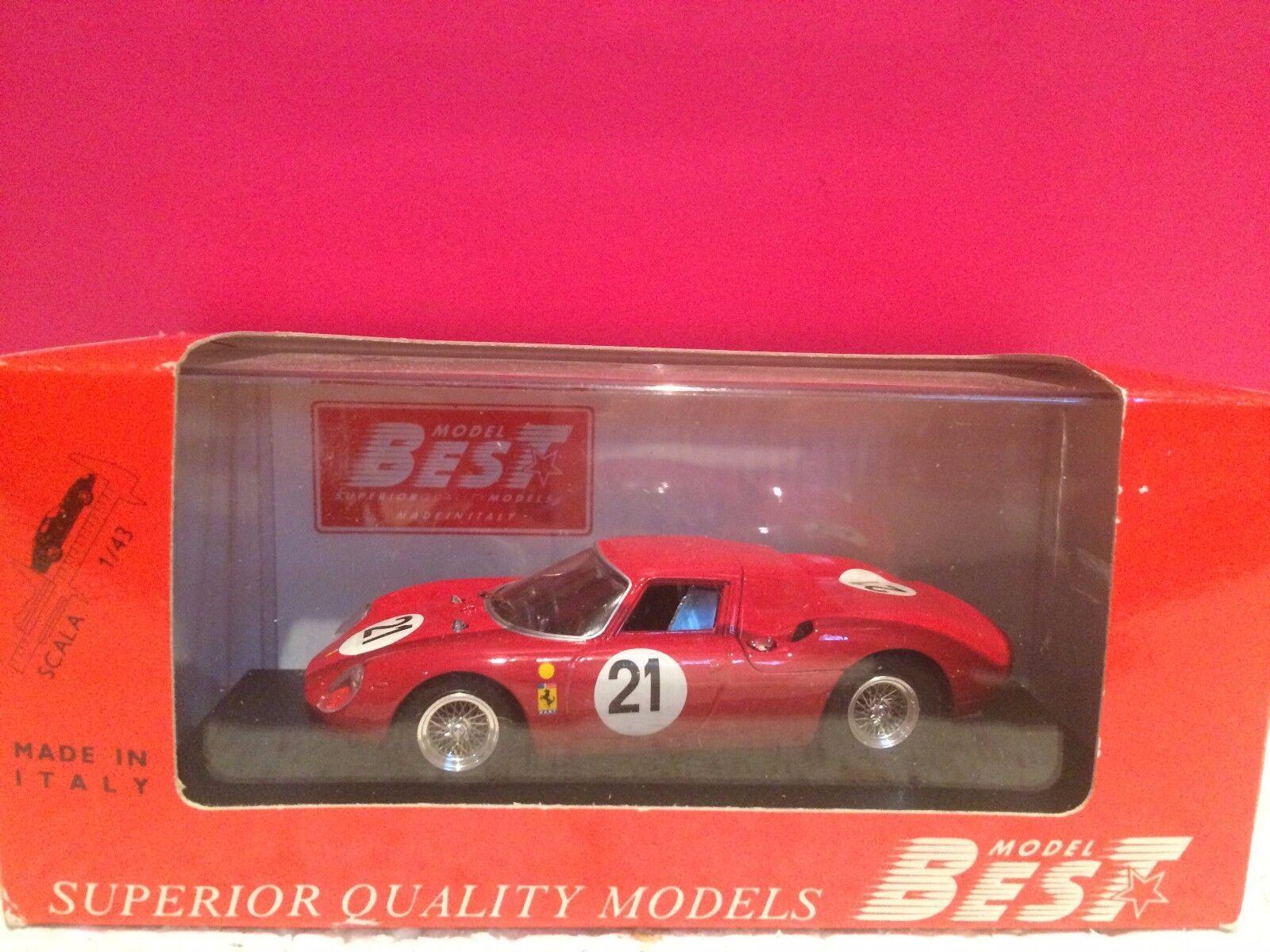 MODEL BEST súperBE FERRARI 250 LM LE MANS 1965  NEUF EN BOITE ech 1 43