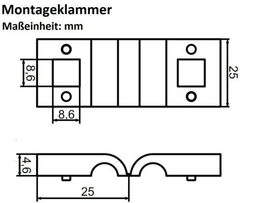 Rectangulaire endschelle 40x60mm Vert Graphite Galvanisé gitterstabmattenzaun clôture