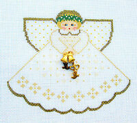 Wedding Angel With Charms Handpainted Needlepoint Canvas Painted Pony