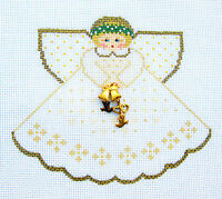 Sp.order Wedding Angel With Charms Handpainted Needlepoint Canvas Painted Pony