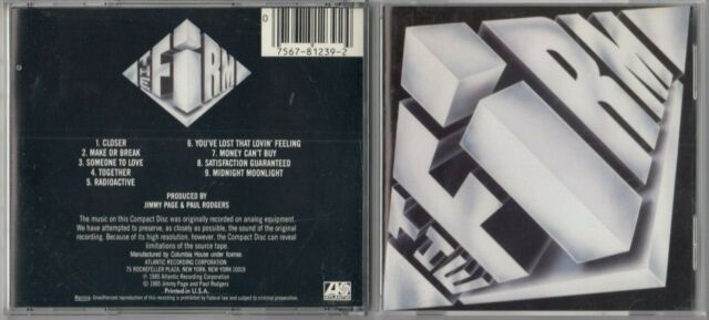 The Firm by The Firm (Rock) (CD, 1985, Atlantic (Label))  EARLY DADC PRESS