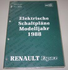 Werkstatthandbuch Renault Espace I Typ J11 Elektrische Schaltpläne Elektrik 1988