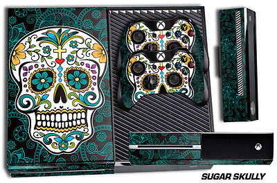 Designer Skin for XBOX ONE 1 Gaming Console +2 Controller Sticker Decals SKULLY