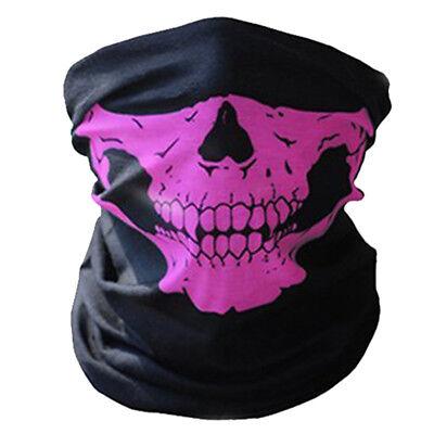 Cráneo Máscara Media Cara Bufanda Bandana Motociclista Esqueleto Halloween