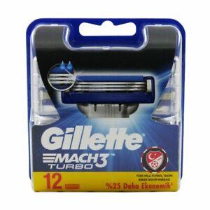 12-Gillette-Mach3-Turbo-Rasierklingen-12-Stueck-Klingen-in-OVP