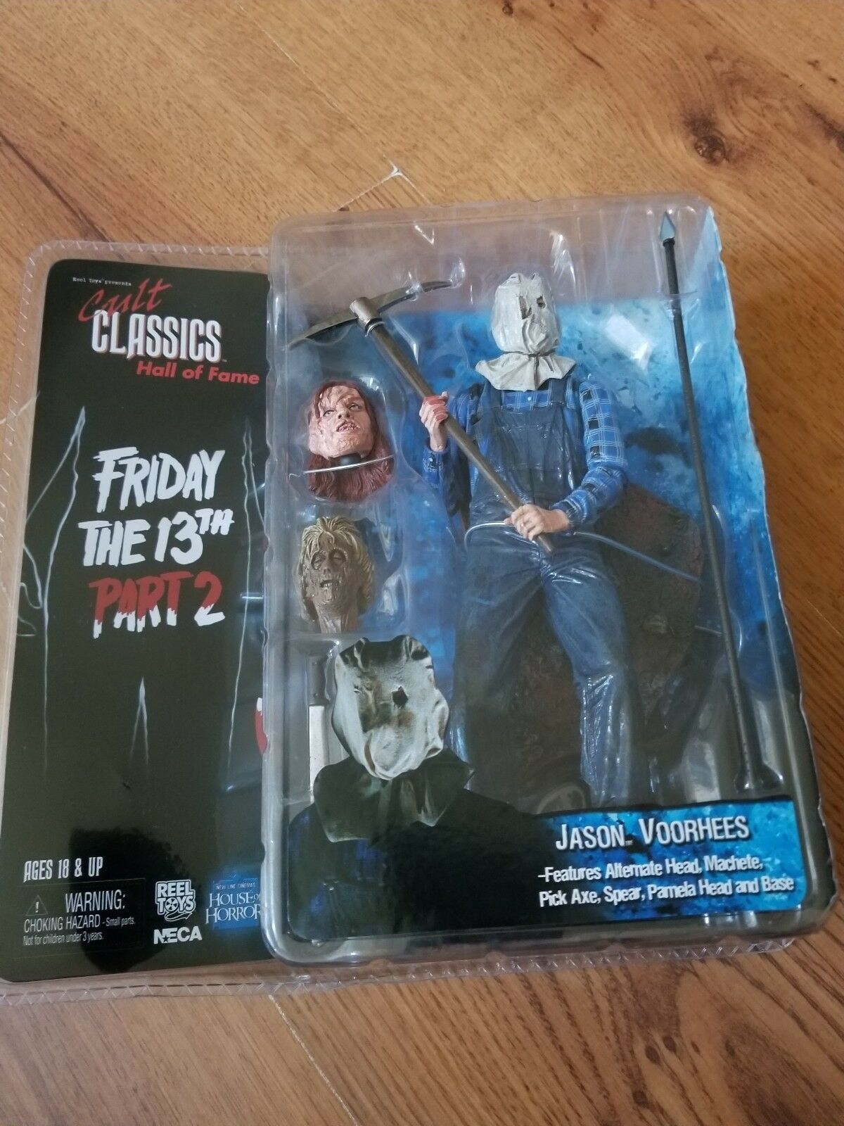 NECA Cult classeics Htutti Of Fame Friday the 13th Part 2  Jason Voorhees azione F