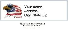 80 Small Personalized Address Labels Us Flag Eagle Buy3 Get1 Free X 9