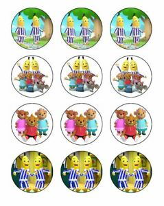 24 COWS Cupcake Edible Wafer Paper Birthday Party Cake Decoration Toppers