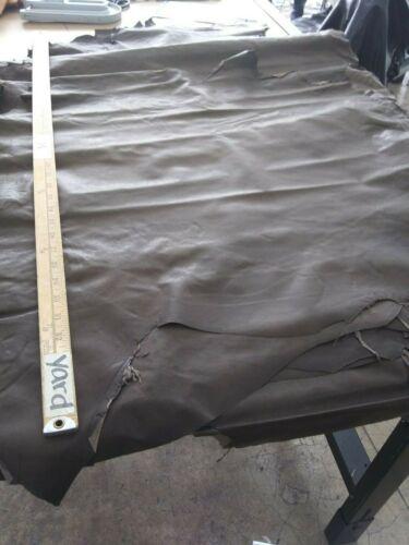 """Italian /""""Razor Paper Thin/"""" Lambskin leather skin Lamb Hide Dark Brown 5.50 Sq.Ft"""