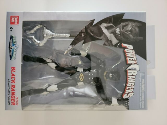 """Power Rangers Legacy In Space Psycho Black Ranger 6"""" Action Figure. In Stock!"""